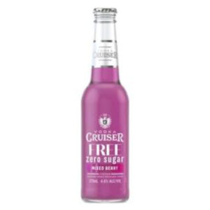 Vodka Cruiser Sugar Free Berry 275ml